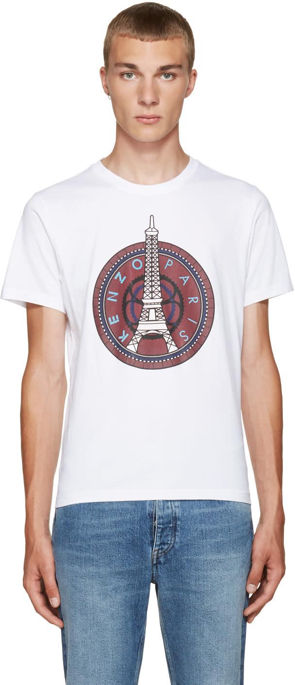 Kenzo White Eiffel Tower T-shirt