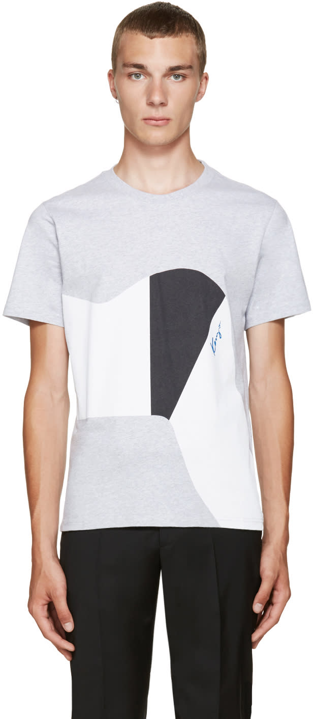 Kenzo Grey Graphic T-shirt