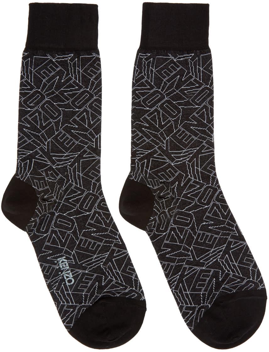 Kenzo Black Logo Socks
