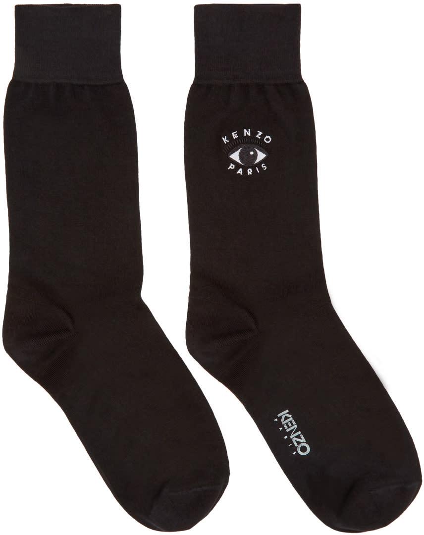 Kenzo Black Eye Logo Socks