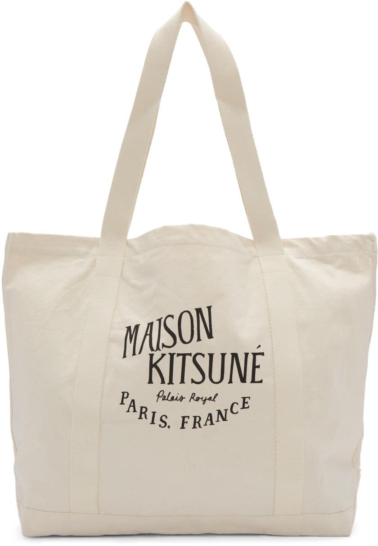 Maison Kitsuné エクリュ パレ ロワイヤル トート