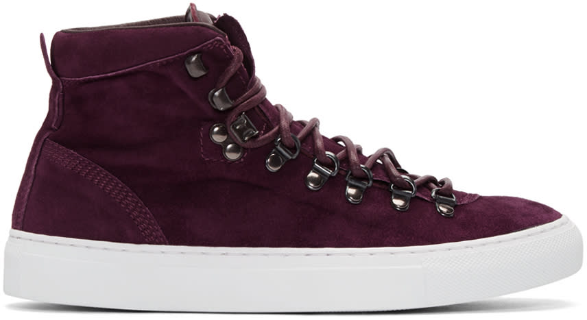 Diemme Burgundy Suede Marostica Mid-top Sneakers
