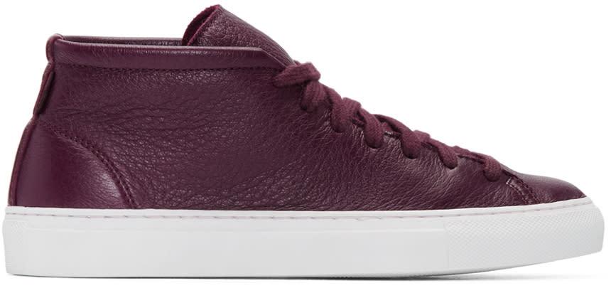 Diemme Burgundy Deerskin Loria Sneakers