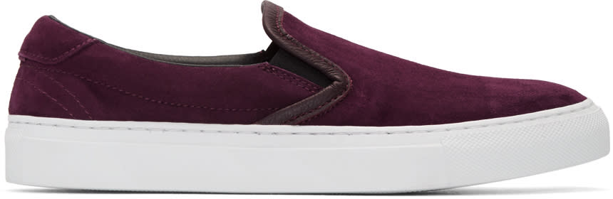 Diemme Burgundy Suede Garda Slip-on Sneakers