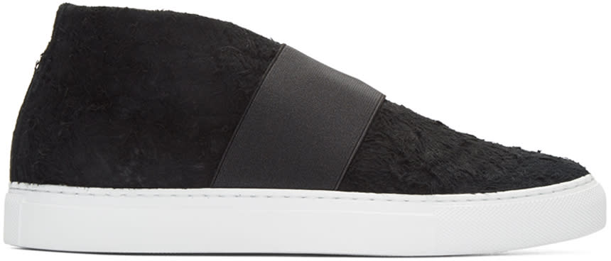 Diemme Black Suede Cassola Mid-top Sneakers
