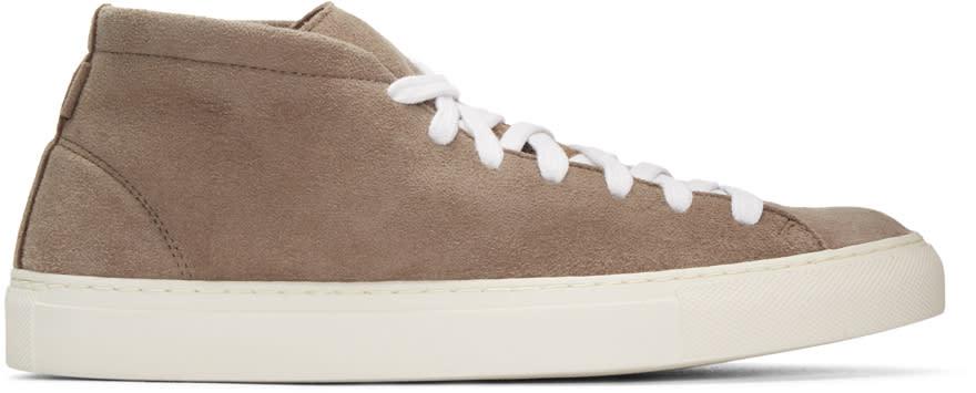 Diemme Beige Loria Mid-top Sneakers