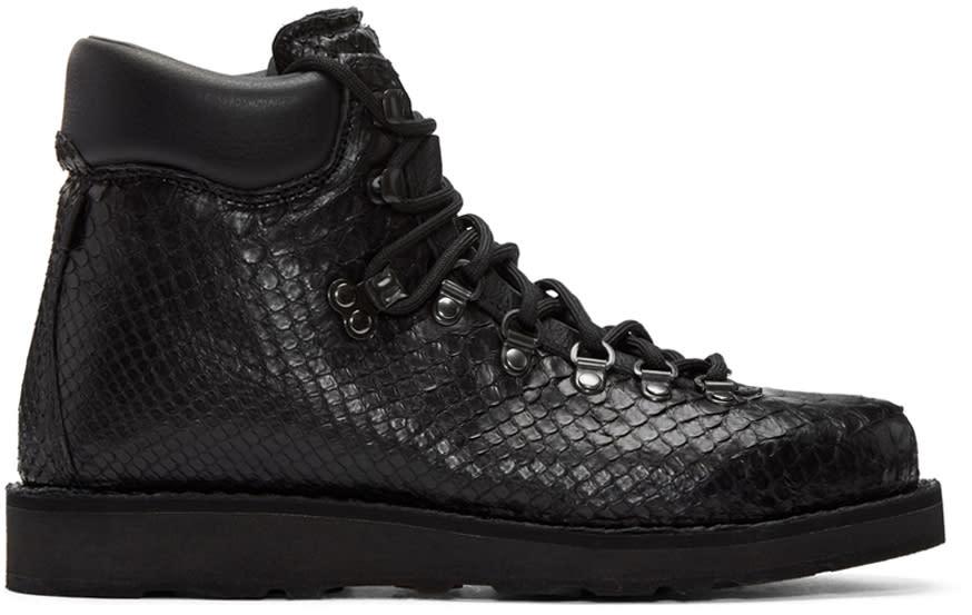Diemme Ssense Exclusive Black Python Roccia Boots
