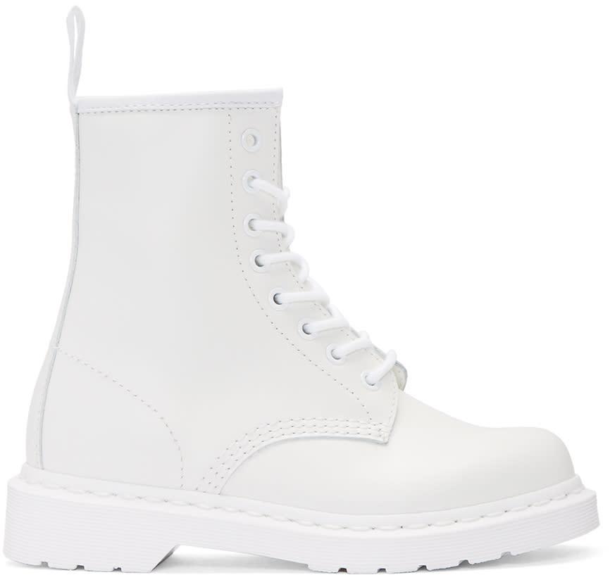 Dr. Martens White 1460 Mono Boots