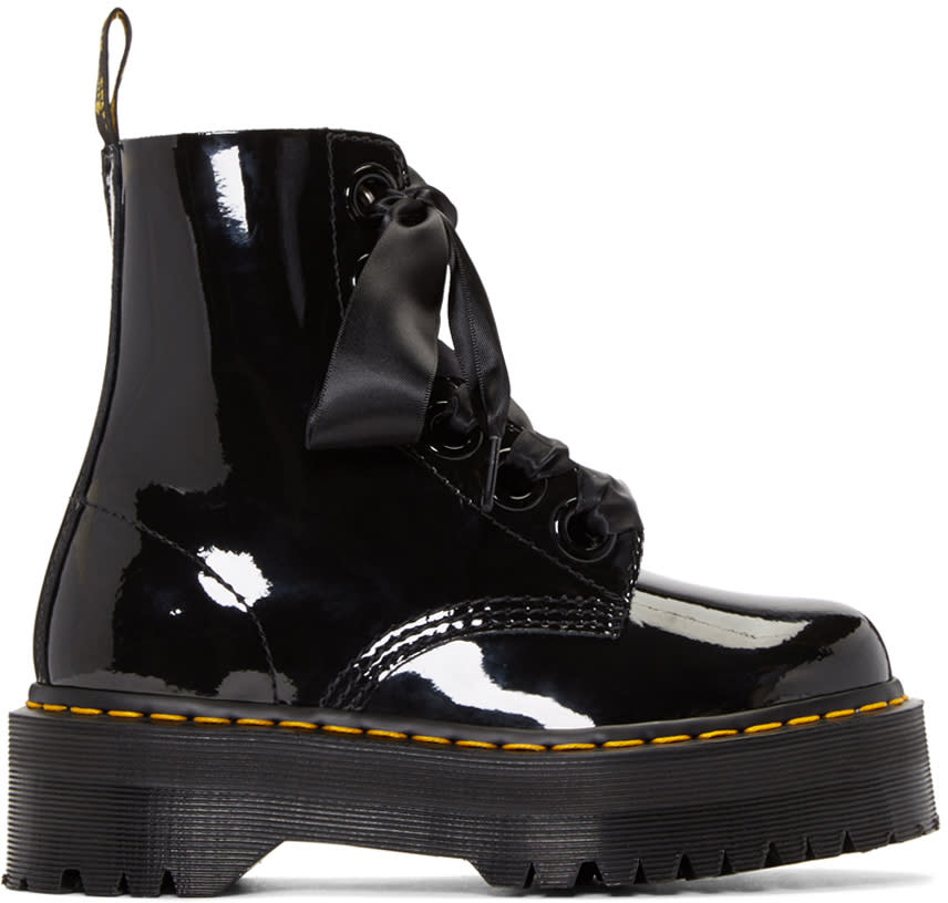Dr. Martens Black Six-eye Molly Lolita Boots
