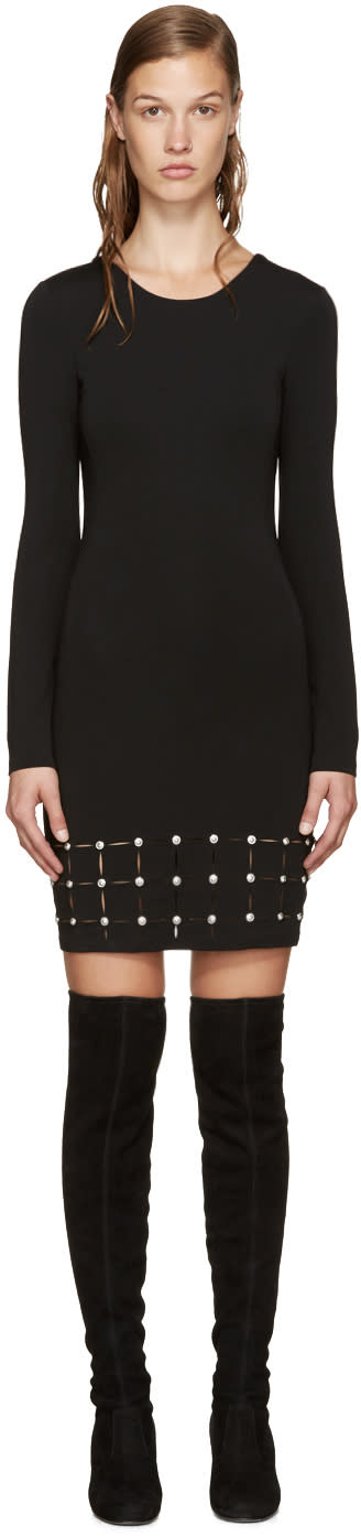 Versus Black Laser-cut Dress