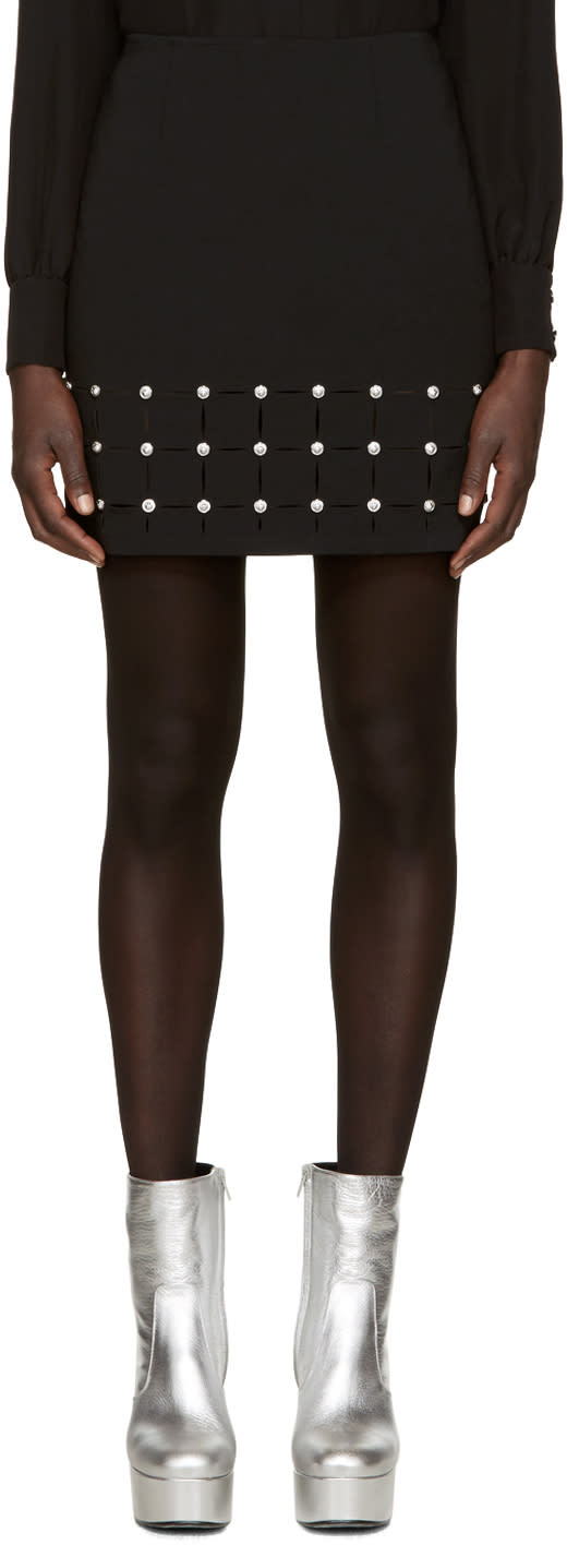 Versus Black Cut-out Miniskirt