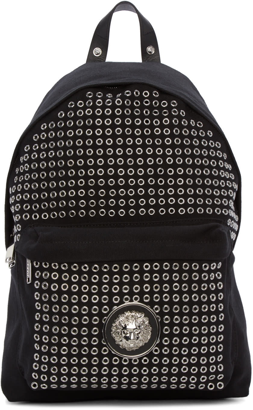 Versus Black Eyelet Backpack