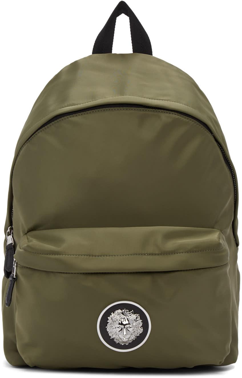9d5028a0ea Versus Green Nylon Logo Backpack