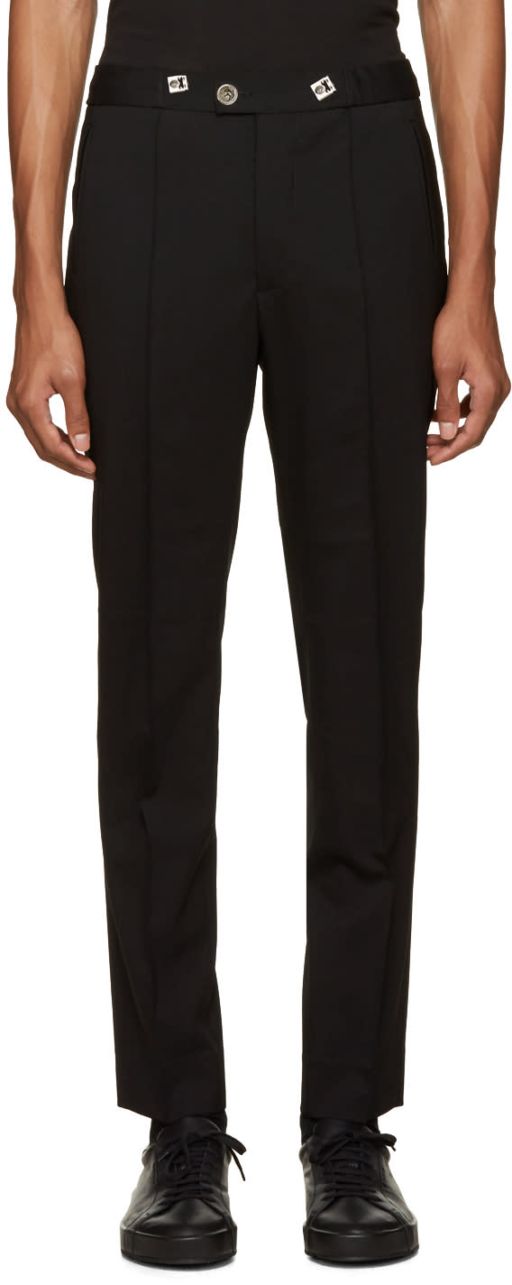 Versus Black Drawstring Trousers