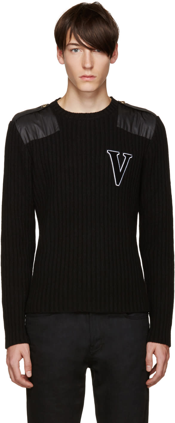 Versus Black Wool v Sweater