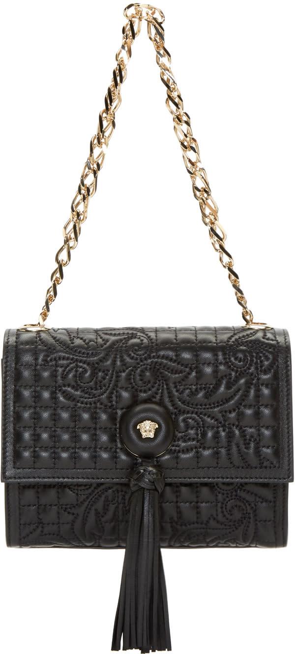 Versace Black Quilted Vanitas Shoulder Bag