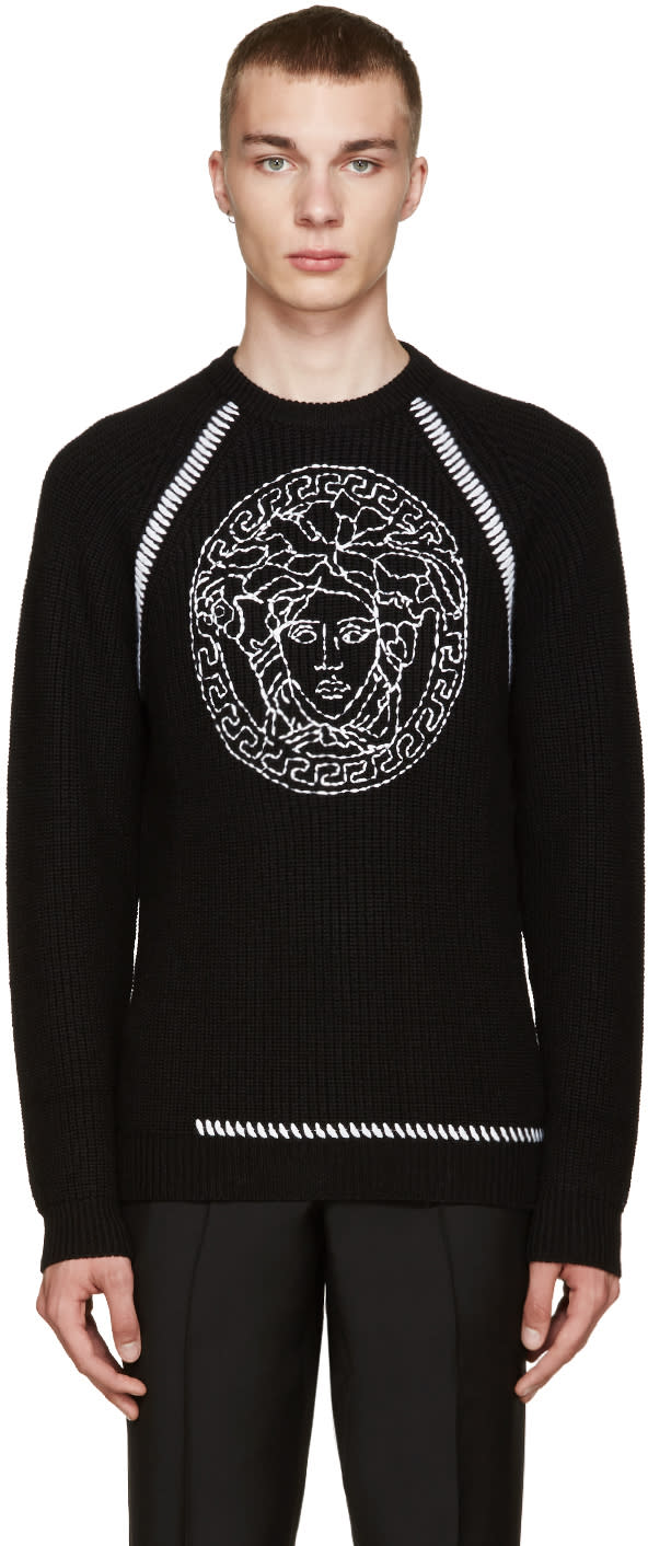 Versace Black Medusa Sweater
