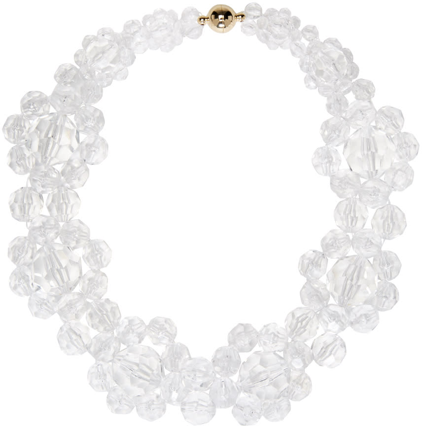 Simone Rocha Transparent Floral Beaded Choker