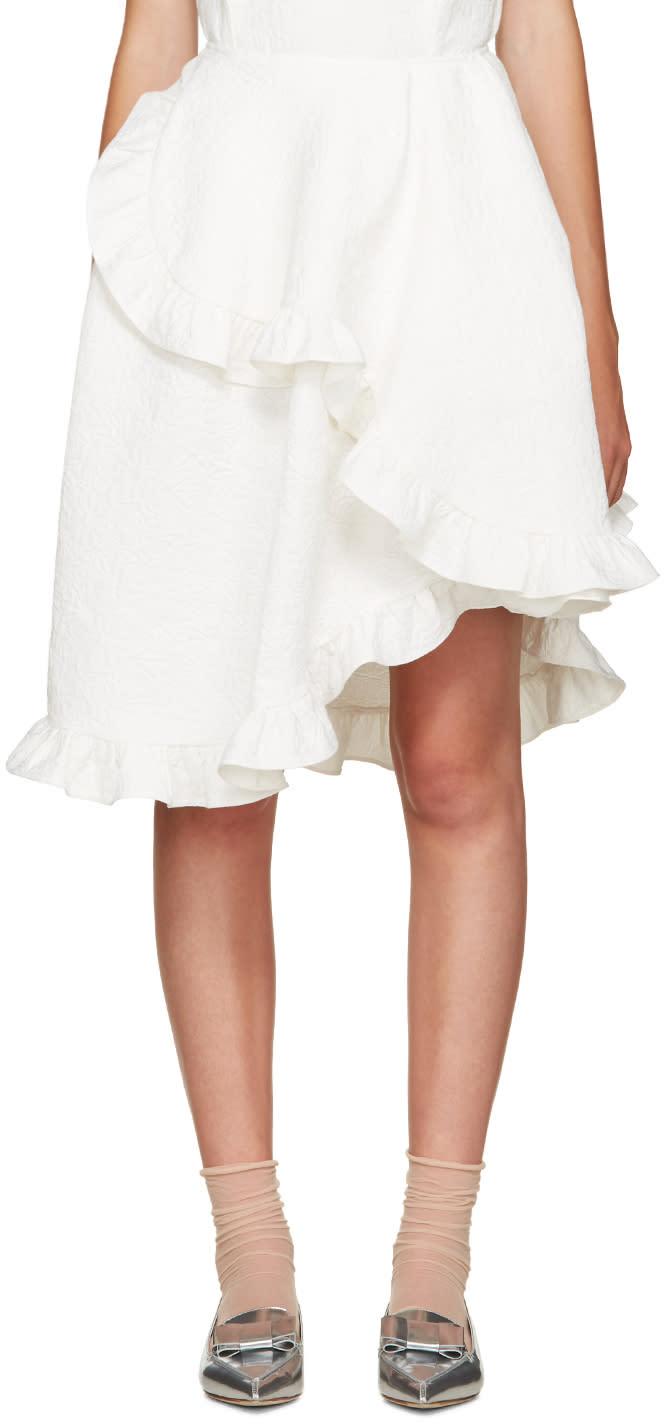 Simone Rocha Ivory Wrap Skirt