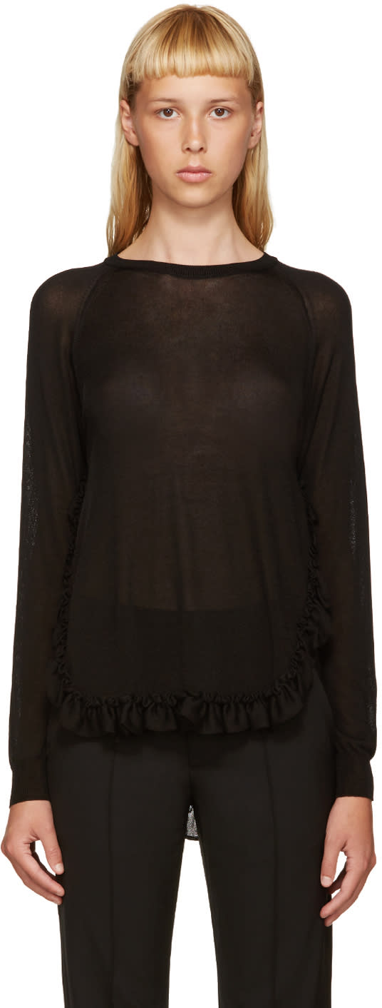 Simone Rocha Black Ruffled Sweater