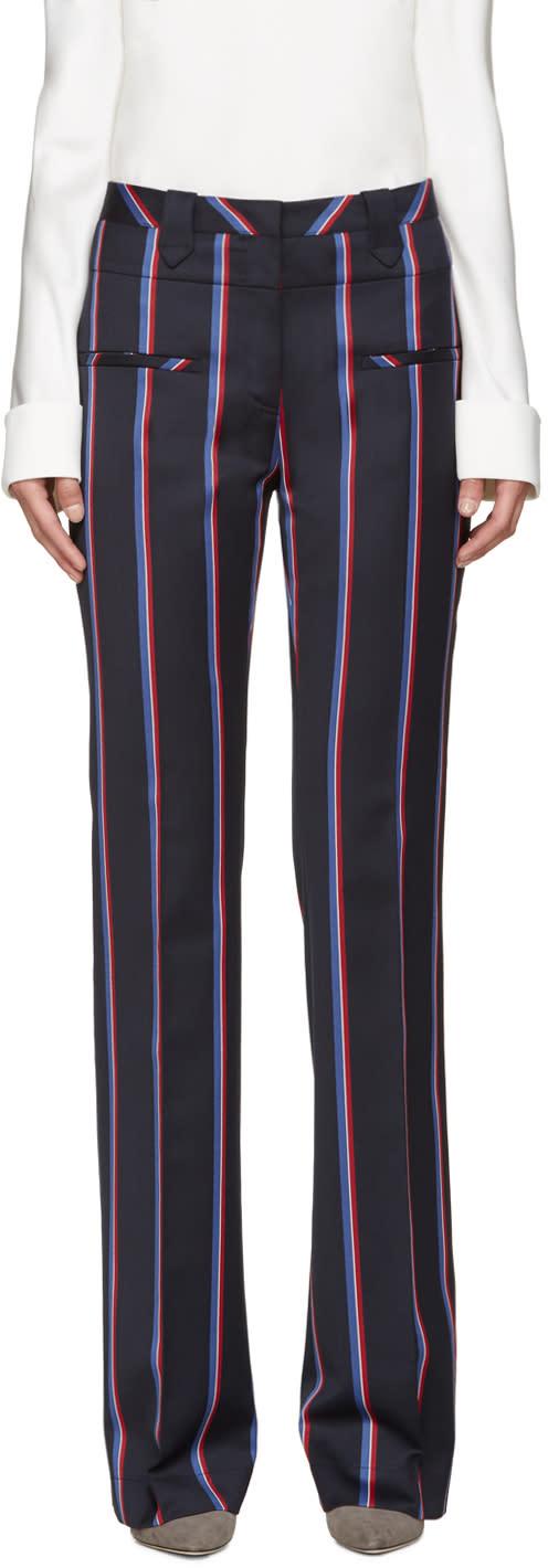 Altuzarra Navy Striped Serge Trousers