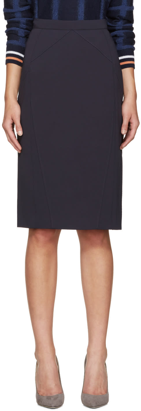 Altuzarra Navy Miro Pencil Skirt