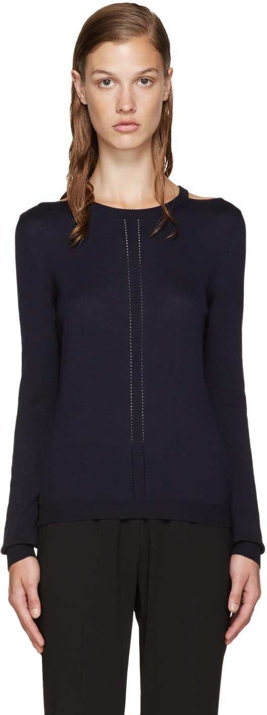 Altuzarra Navy Cut-out Armstrong Sweater