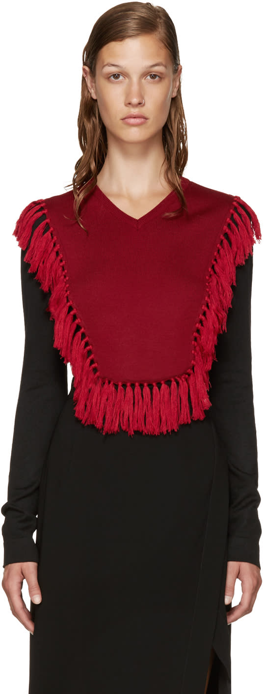 Altuzarra Black and Red Ming Sweater