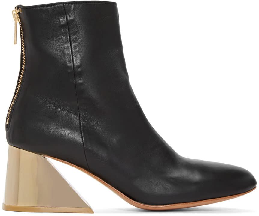 Undercover Black Metallic Heel Boots