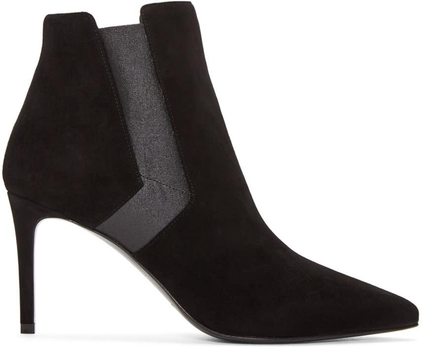 Saint Laurent Black Suede Paris Boots