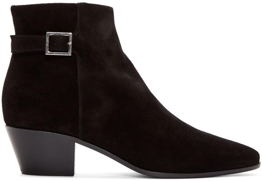 Saint Laurent Black Rock Ankle Boots
