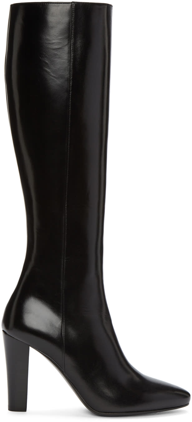 Saint Laurent Black Leather Lily Boots