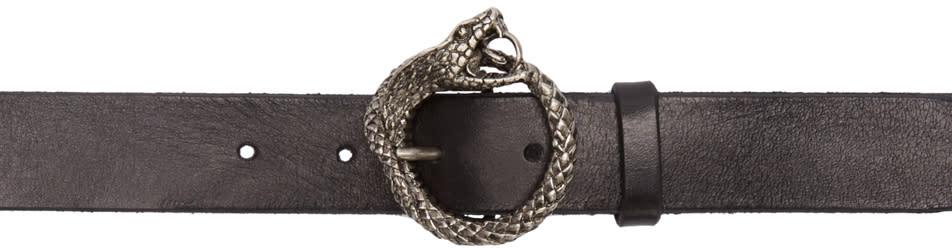 Saint Laurent Black Cobra Head Belt