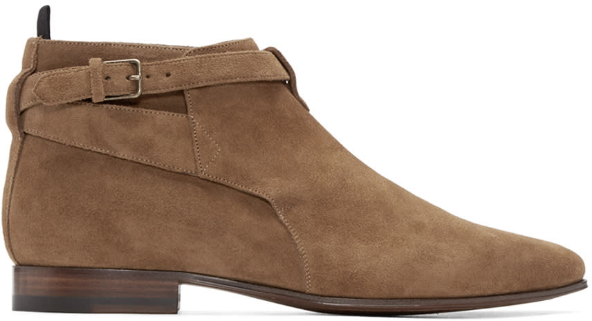 Tan Suede London Boots