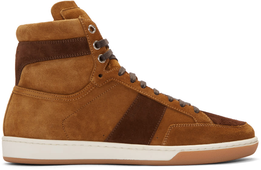Tan Suede Court Classic High-top Sneakers