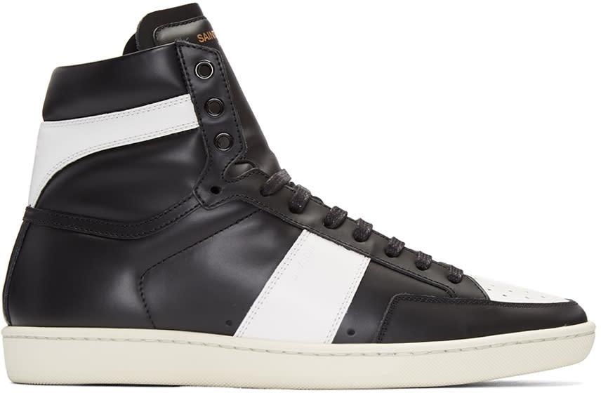 Saint Laurent Black Sl-10 Court Classic Sneakers
