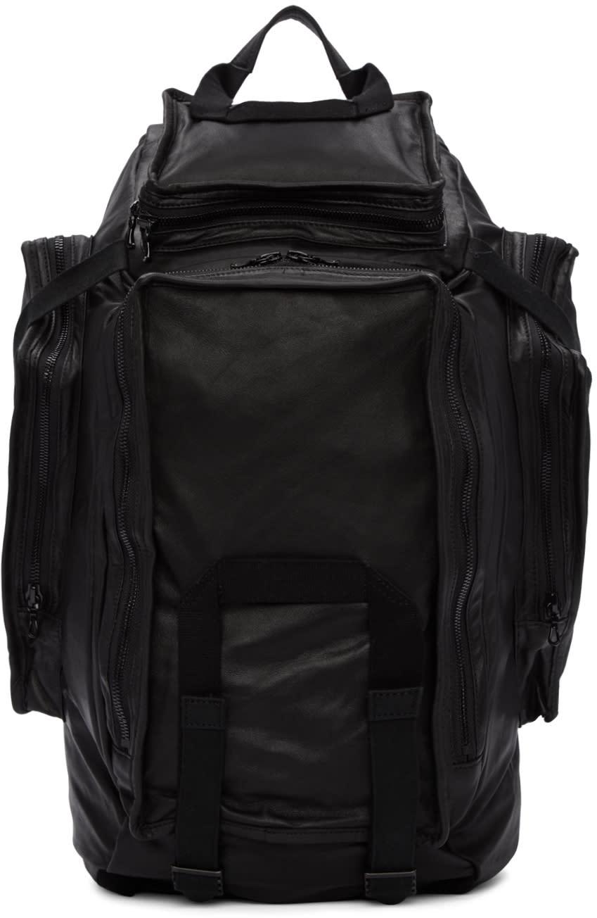Julius Black Multi-zip Backpack