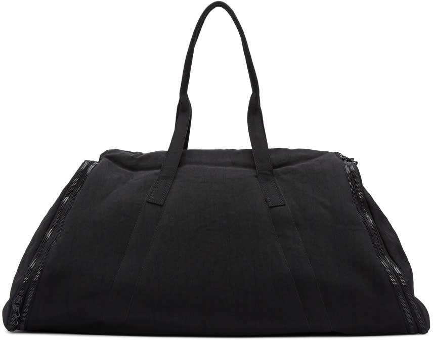 Julius Black Nylon Twill Duffle Bag