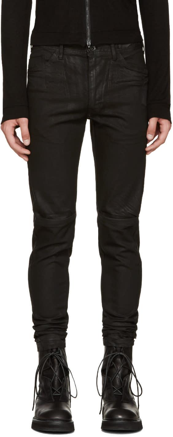 Julius Black Coated Jeans