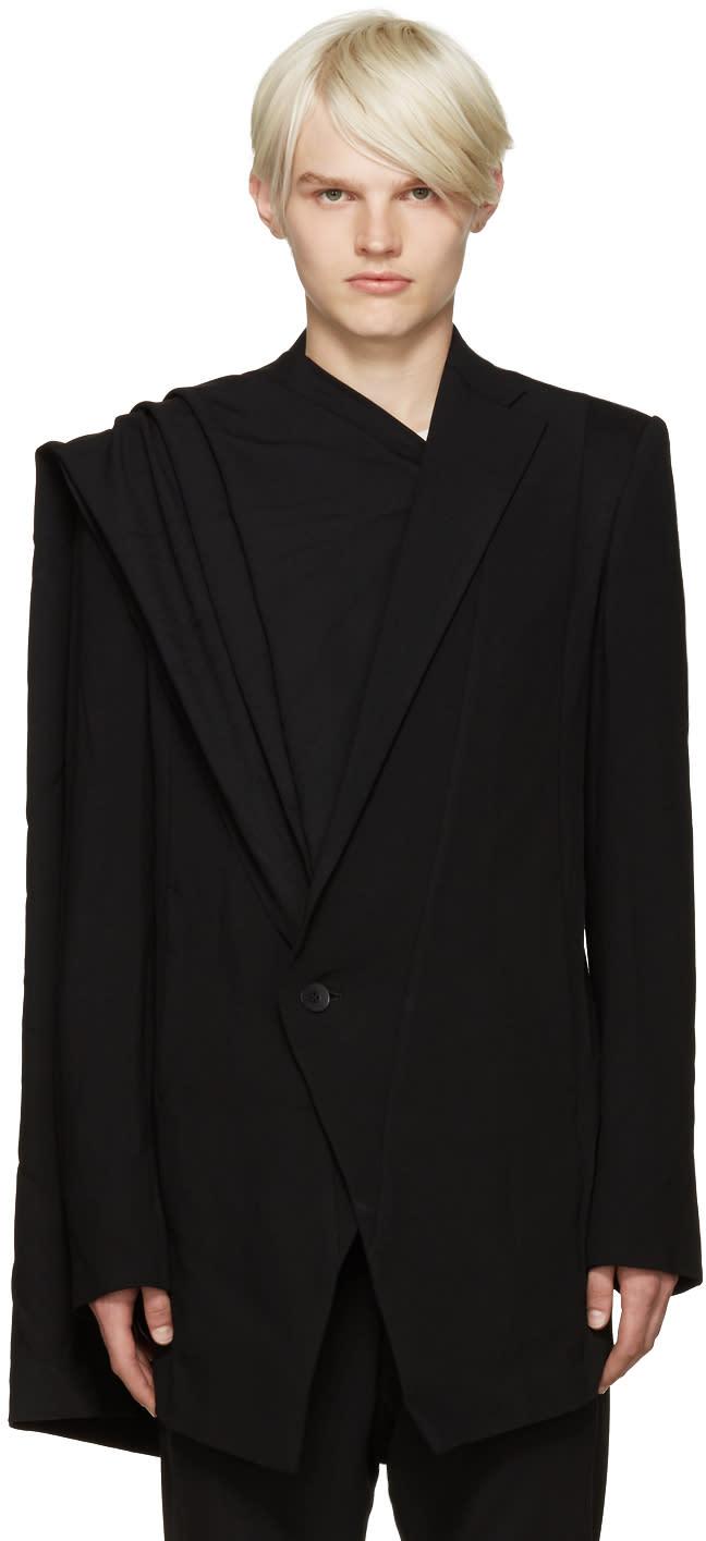 Julius Black Layered Wool Blazer