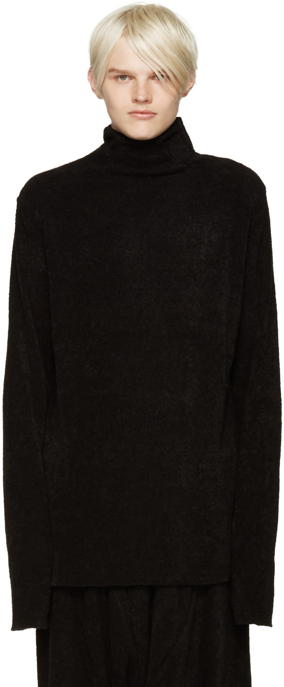 Julius Black Boucle Sweater