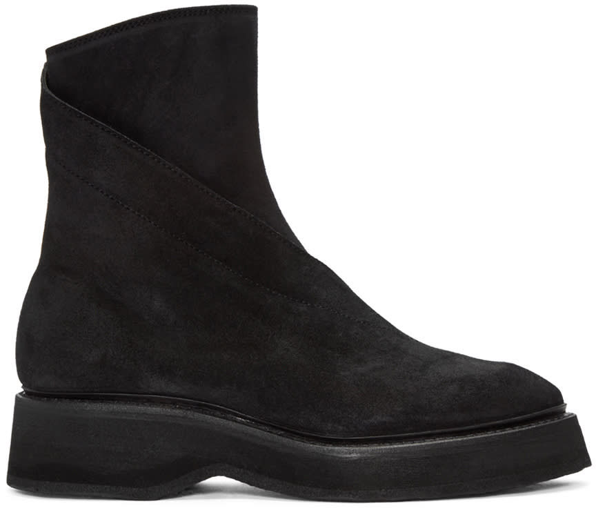 Julius Black Twisted Zip-up Boots