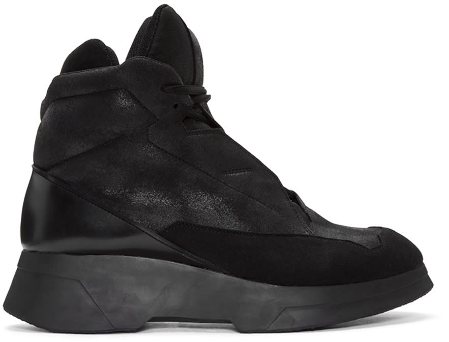 Julius Black Coated High-top Sneakers