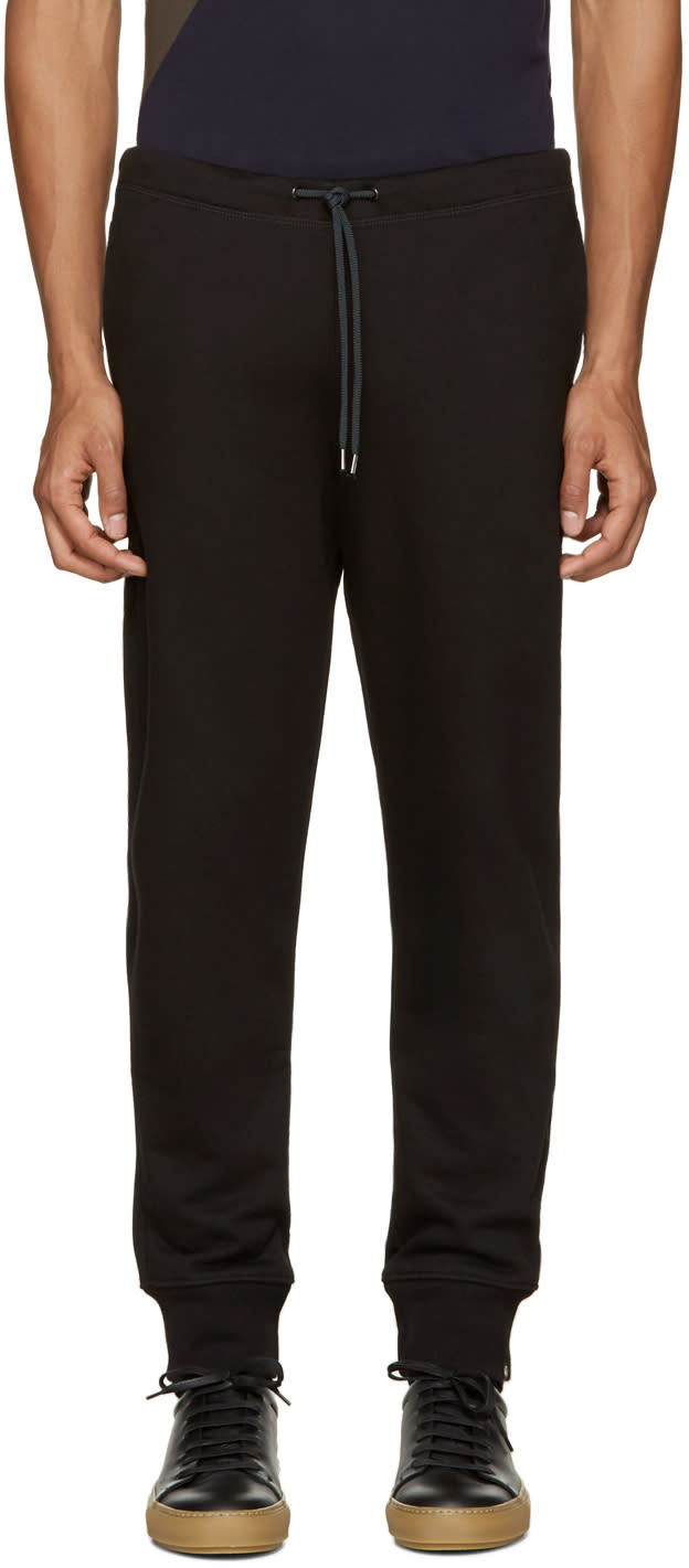 Ps By Paul Smith Black French Terry Lounge Pants