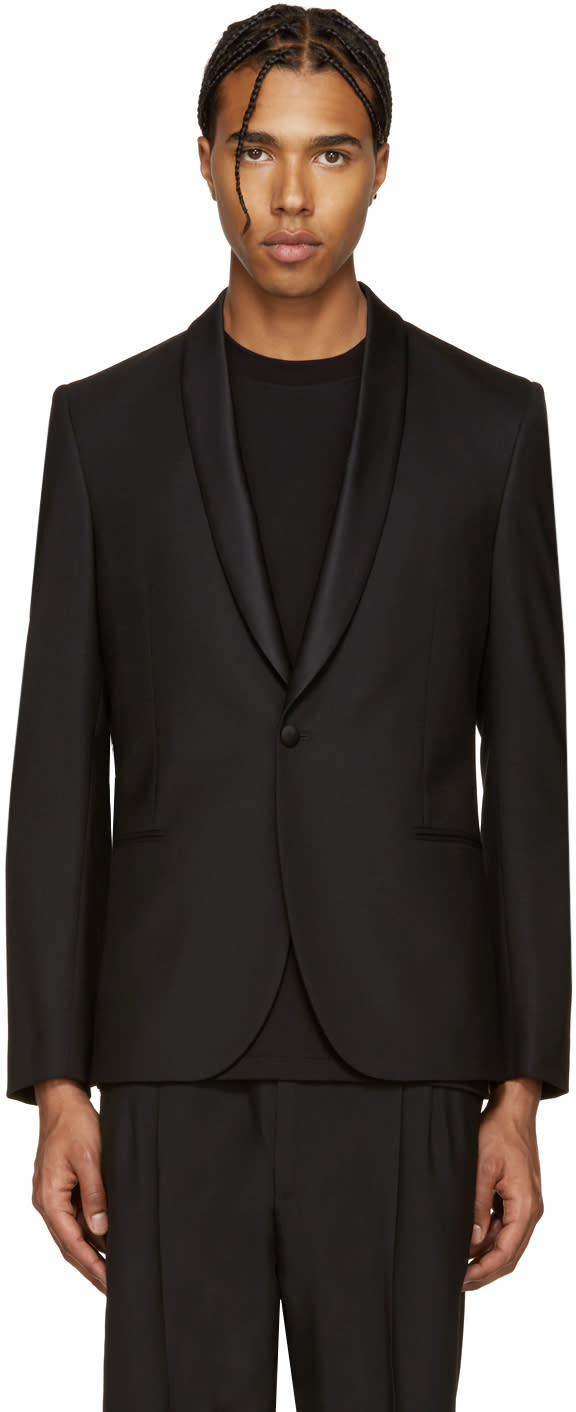 Ps By Paul Smith Black Wool Blazer