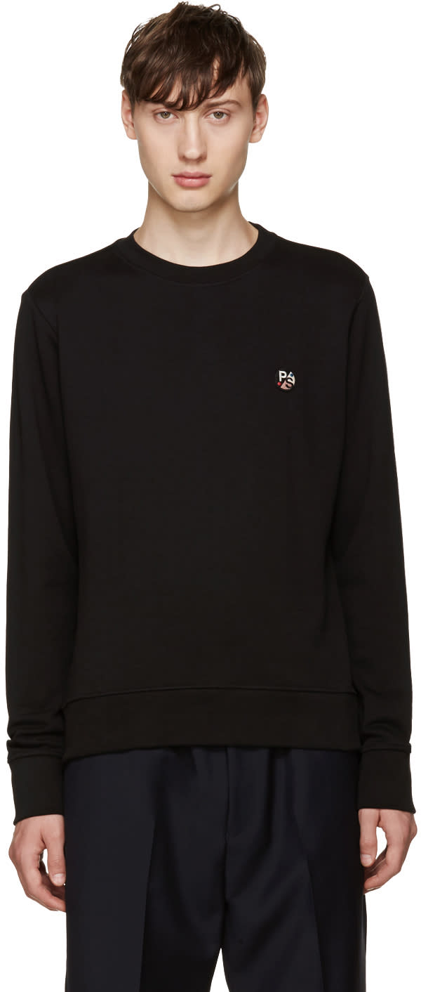 Ps By Paul Smith Black Logo Pullover