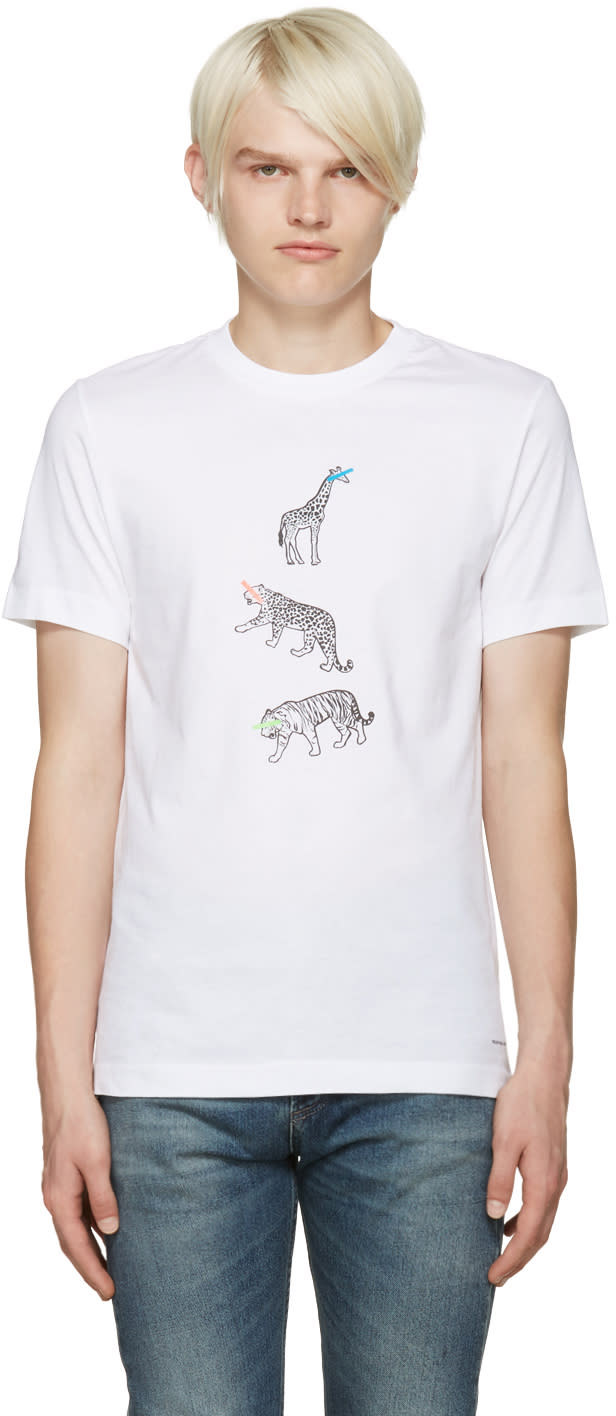 Ps By Paul Smith White Three Animals T-shirt