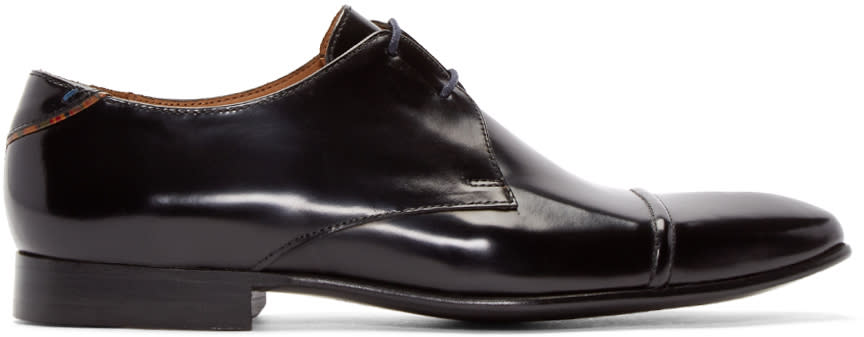 Ps By Paul Smith Black Robin High-shine Derbys