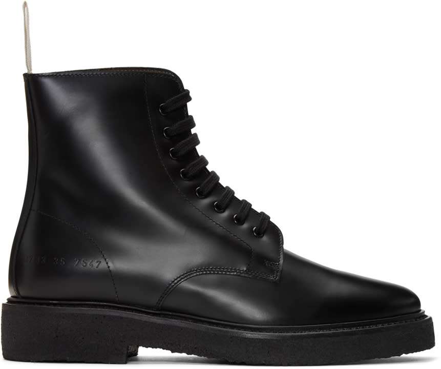 Woman By Common Projects Black Standard Combat Boots