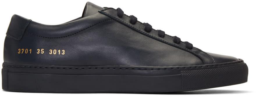 Woman By Common Projects Navy Original Achilles Sneakers